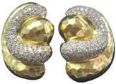 Henry Dunay 18K Yellow Gold 4.50ct. Hammered Diamond Earrings