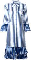 Dondup frill trim shirt dress - women - Cotton - 38
