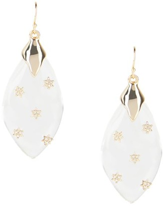 Alexis Bittar Crystal-Star Spiked Lucite Drop Earrings