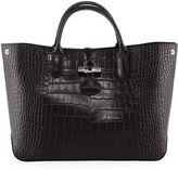Longchamp Roseau Croco Medium Tote Bag