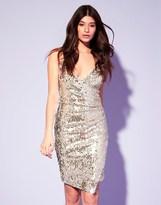 Lipsy Sequin V Neck Cami Bodycon Dress