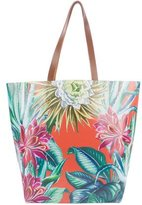 Mara Hoffman Leather-Trimmed Printed Tote
