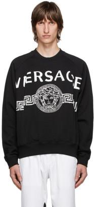 Versace Black Vintage Medusa College Sweatshirt