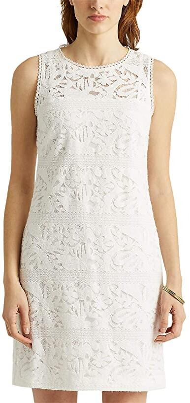 Thumbnail for your product : Lauren Ralph Lauren Floral Striped Lace Dress