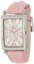 Mother of Pearl Gevril Women's 7248RT.10A Pink Mother-of-Pearl Genuine Ostrich Strap Watch