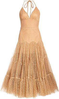 Alexis Bellerose Polka-Dot Chiffon Dress