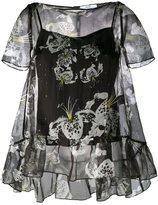 Erdem sheer ruffle blouse