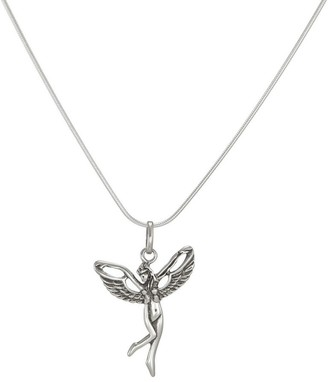Handmade Jewelry by Dawn Antique Silver Fairy Sterling Silver Snake Chain Necklace