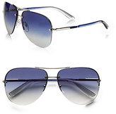 Prada Rimless Aviator Sunglasses