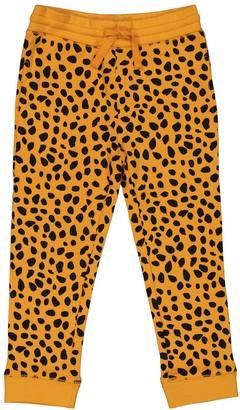 Stella McCartney Kids Cheetah-print cotton trackpants