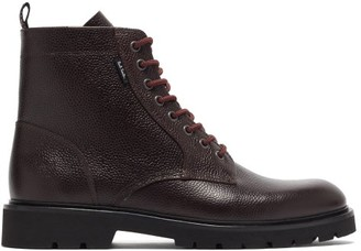 Paul Smith Fowler Grained-leather Boots - Dark Brown