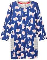 Funkyberry Pocket Cat Dress (Toddler & Little Girls)
