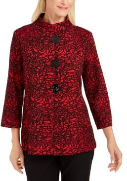 JM Collection Jacquard 3/4-Sleeve Jacket, Created For Macy's