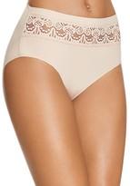 TC Fine Shapewear Lace Trim French Hi-Cut Bikini #A4-074