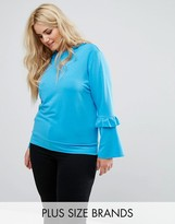 Alice & You Ruffle And Fluted Sleeve Jumper