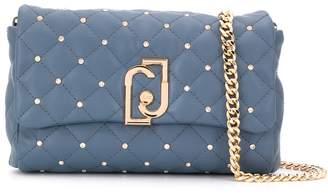 Liu Jo small quilted diamante cross body bag