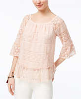Style&Co. Style & Co Style & Co Petite Lace Off-The-Shoulder Top, Created for Macy's