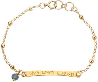 Amadeus Karma Engraved Gold Chain Bracelet