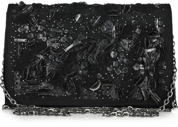 Theyskens' Theory Sequin-embellished clutch