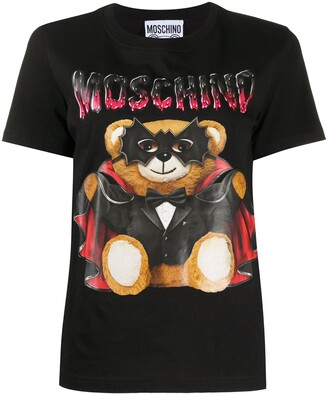 Moschino Bat Teddy print T-shirt