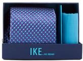 Ike Behar Box Neat Silk Tie & Handkerchief