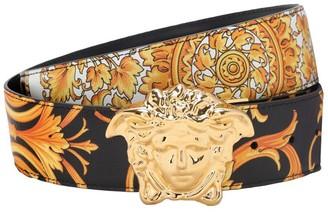 Versace 40mm Reversible Baroque Leather Belt