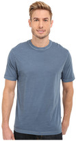 True Grit Combed Cotton and Vintage Pigment Dyed Short Sleeve Basic Crew Neck Tee w/ Stitch Detail