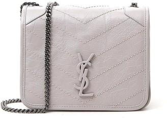 Saint Laurent Niki Logo Plaque Chain Crossbody Bag
