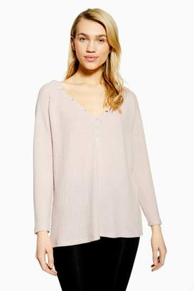 Topshop Brushed Waffle Lounge Top