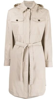 Brunello Cucinelli Ripstop Taffeta Belted Coat