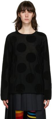 Comme des Garçons Homme Plus Black Polka Dot Sweater