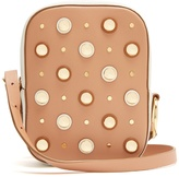 Diane von Furstenberg Stud-embellished leather cross-body bag
