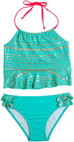 LIMITED TOO Limited Too Girls Solid Tankini Set - Big Kid