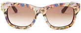 Valentino Women&s Printed Wayfarer Sunglasses