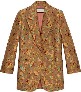 Gucci GG floral blazer