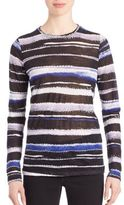 Proenza Schouler Long-Sleeve Printed Cotton Jersey Tissue Tee