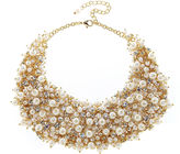 Natasha Accessories Natasha Crystal and Simulated Pearl Necklace