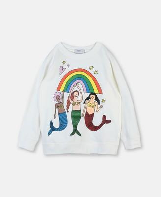 Stella McCartney mermaids cotton sweatshirt