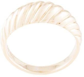 NATASHA SCHWEITZER 9kt gold Gisele angled curve ring