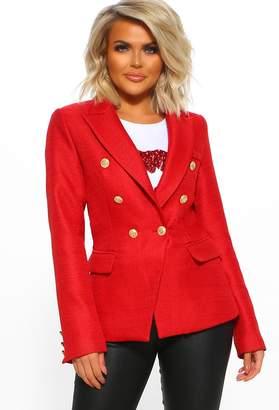 Pink Boutique Elegant Bliss Red Blazer