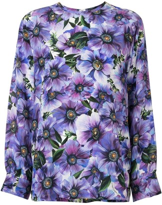 Dolce & Gabbana Anemone Print Blouse