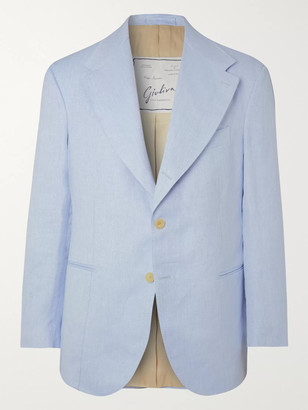 Giuliva Heritage Collection Alfonso Herringbone Linen Suit Jacket