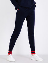 Chinti and Parker Love Heart cashmere jogging bottoms