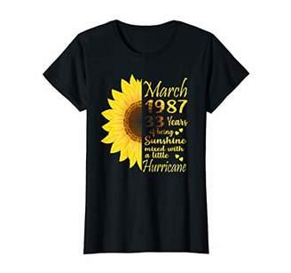 Womens March Girl 1987 TShirt 33 Years Old 33rd Birthday Gift T-Shirt