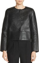 Maje Bibiane Bonded Leather Jacket