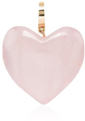 Loren Stewart 14kt Gold Quartz Heart Charm