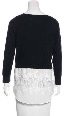 Sandro Embroidered Sweater