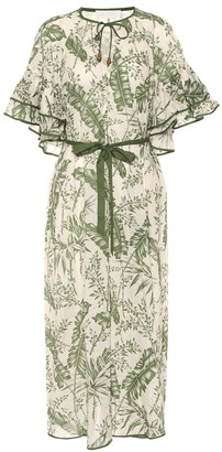 Zimmermann Empire printed cotton midi dress