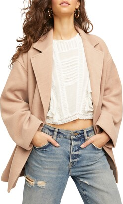 Free People Hannah Slouchy Double Breasted Blazer