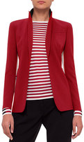 Akris Punto Single-Breasted Wool-Blend Jacket, Sport Red/Cream